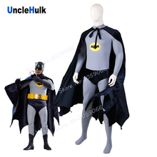 Batman 1966 Grijs Cosplay Kostuum Set - Bodysuit En Slips En Mantel | Unclehulk