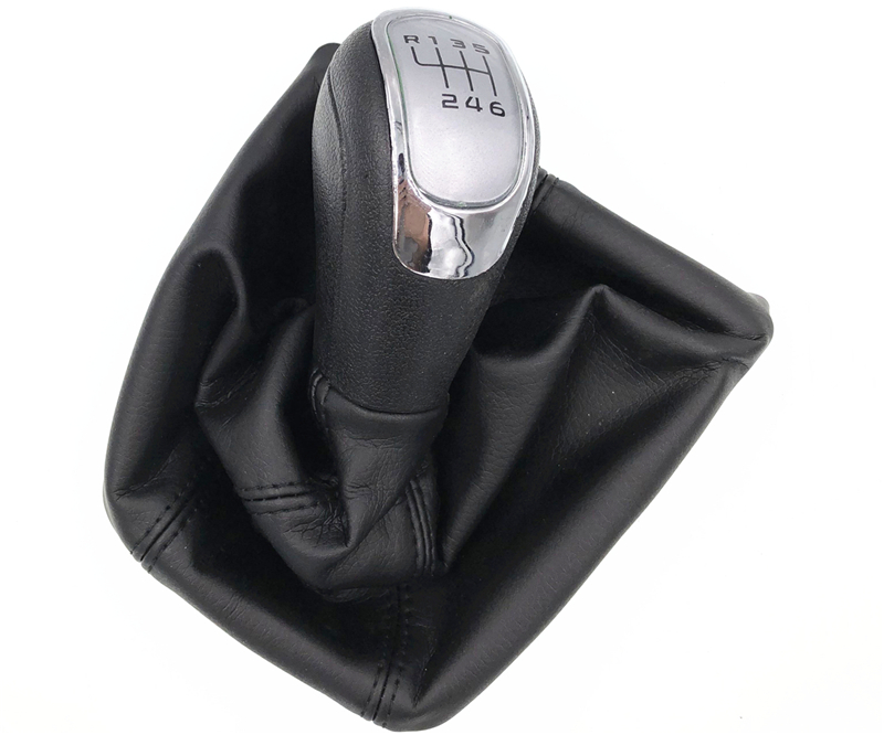 HZTWFC 6 Speed Car Gear Shift Knob With Black Boot