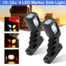 1 paar 4 LED Marker Seite Licht Für Lkw anhänger Caravan Van 3 Gesicht Rot Bernstein Weiß Auto Freiheit Lampe 10 30v Umriss Lampe