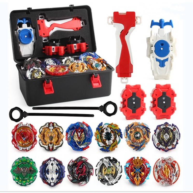 XD168-21 Tops  Burst Set Toys Alloy Metal Fidget Spinner Metal Bearing  Fighting Gyro with Launcher  Toolbox Stress Relief  Toys