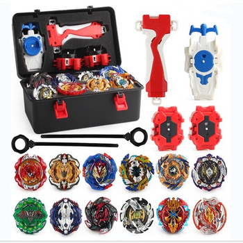 XD168-21 Tops  Burst Set Toys Alloy Metal Fidget Spinner Metal Bearing  Fighting Gyro with Launcher  Toolbox Stress Relief  Toys xd168 30a limited black warrior set burst burst assembly gyro alloy gyro toy four in one