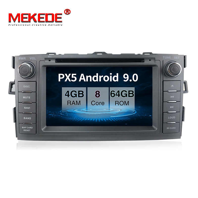 PX5 android 9,0 4 Гб + 64 ГБ Автомобильный мультимедийный плеер навигация gps DVD для toyota auris 2008-2012 с wifi BT carplay USB TMPS navi