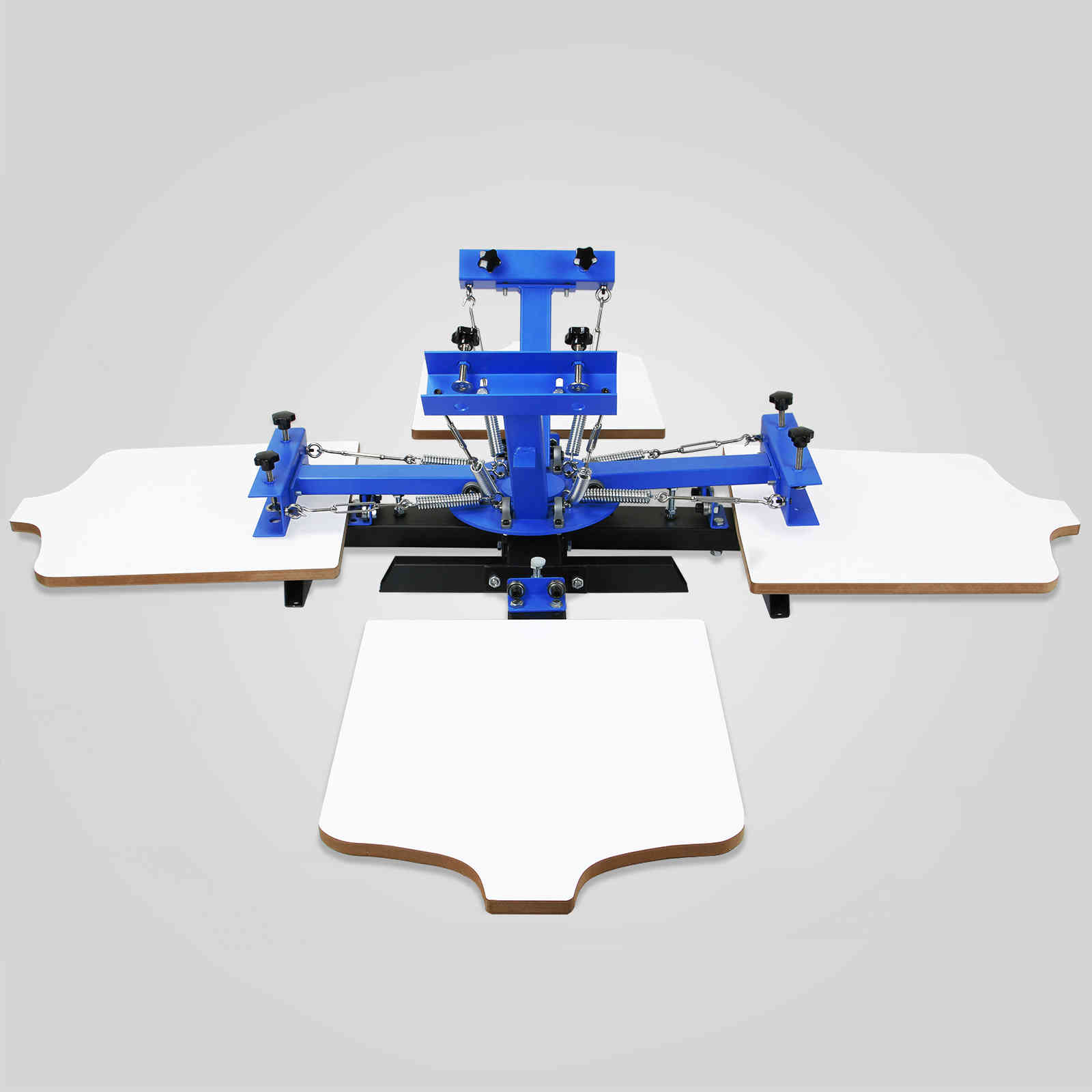 4 Color 4 Station Silk Screening Screenprint Press Screen Printing Machine  For T-Shirt DIY Printing Removable Pallet