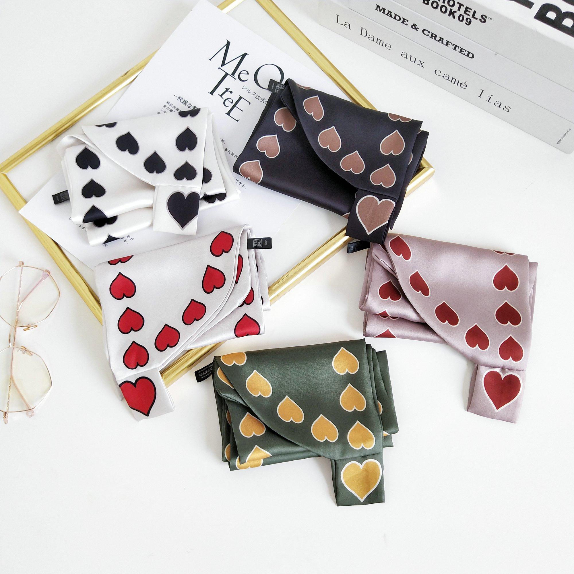 2020 Hot Korea Style Long Small Silk Scarf Decoration Small Neckerchief Simple Ear Variety Arm Ribbon Skinny Scarf