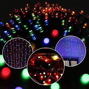 200 Led Solar Garland String Fairy Lights Outdoor 22M Solar Powered Lamp for Garden Decoration 3 Mode Holiday Xmas Wedding Party 4