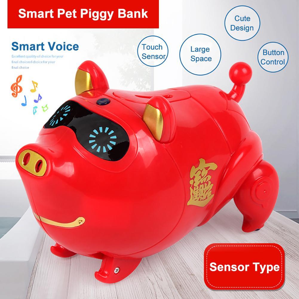Electric Piggy Bank Cute Tou-ch Sensor Walking Pig Music Light Children Toy Gift