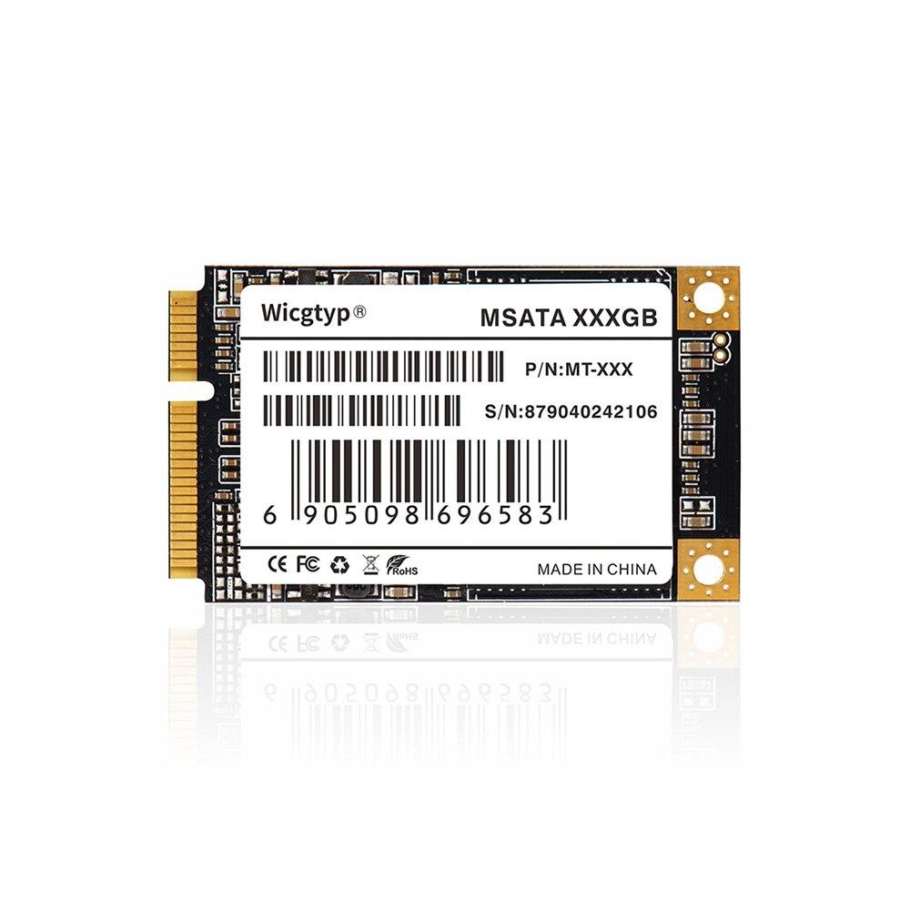 Wicgtyp mSATA SSD SATA3 III 6 GB/S SATA II 16GB 32GB 64GB 128GB 256GB 512GB 1 to HD SSD disque dur tout Signal PC