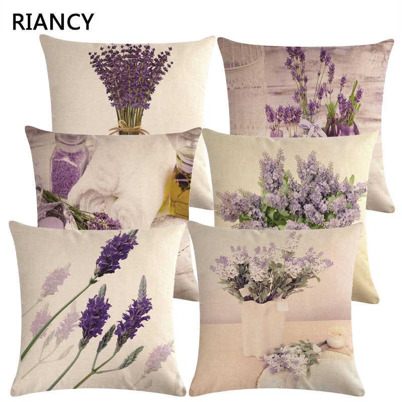 Cotton Linen Throw Pillow Cushion Cover