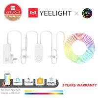Yeelight-tira de luces RGB 1S, banda de luz inteligente para el hogar, aplicación para teléfono, wifi, LED de colores, 2M a 10M, 16 millones, 60 Led