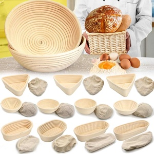 Multi-Sizes Oval Dough Banneton Brotform Dougn Rattan Bread Proofing Proving Baskets Fermentation Wicker Basket Kitchen Supplies