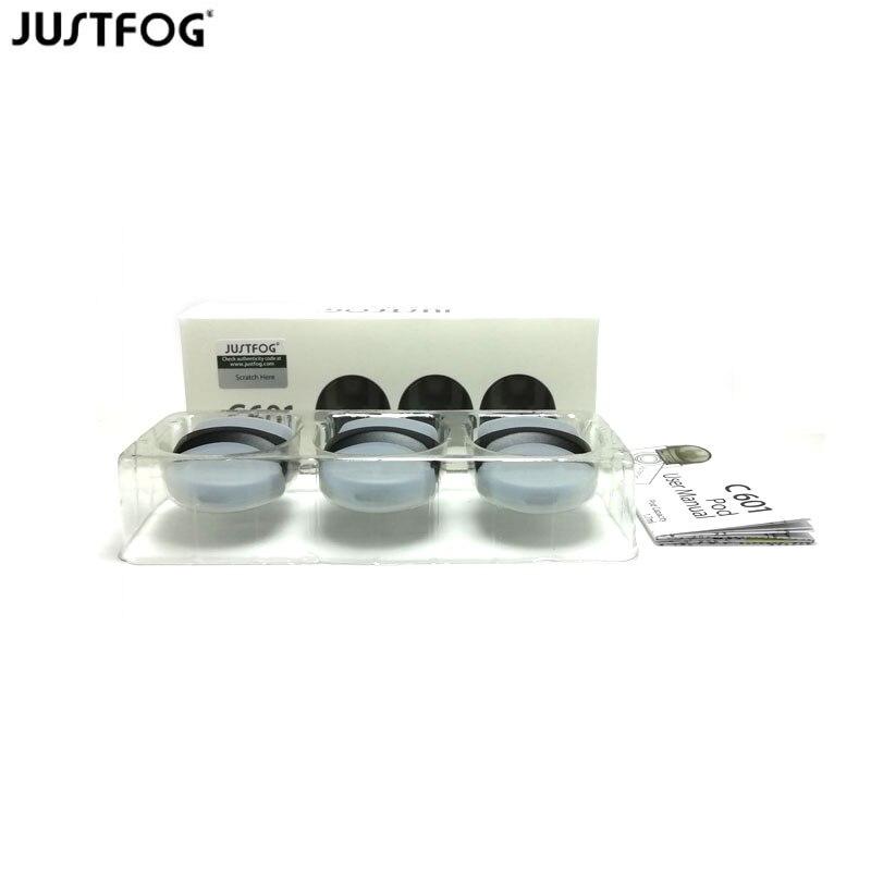30pcs/60pcs Original Justfog C601 Pod Replacement Atomizer For Justfog C601 Starter Kit 1.7ml Capacity Top Refill Pod Cartridge