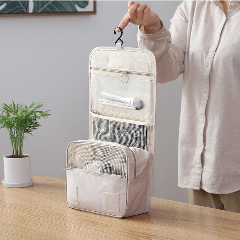 High Quality Waterproof Canvas Travel Hook Wash Bag Large Capacity Casual Cosmetic Bag Multifunctional Portable Storage Bag