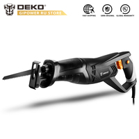 DEKO DKRS01 Portable Reciprocating Saw Electric Saw with Wood Metal Cutting Blade Tool Powerful Wood Cutting Saw|Electric Saws| |  -