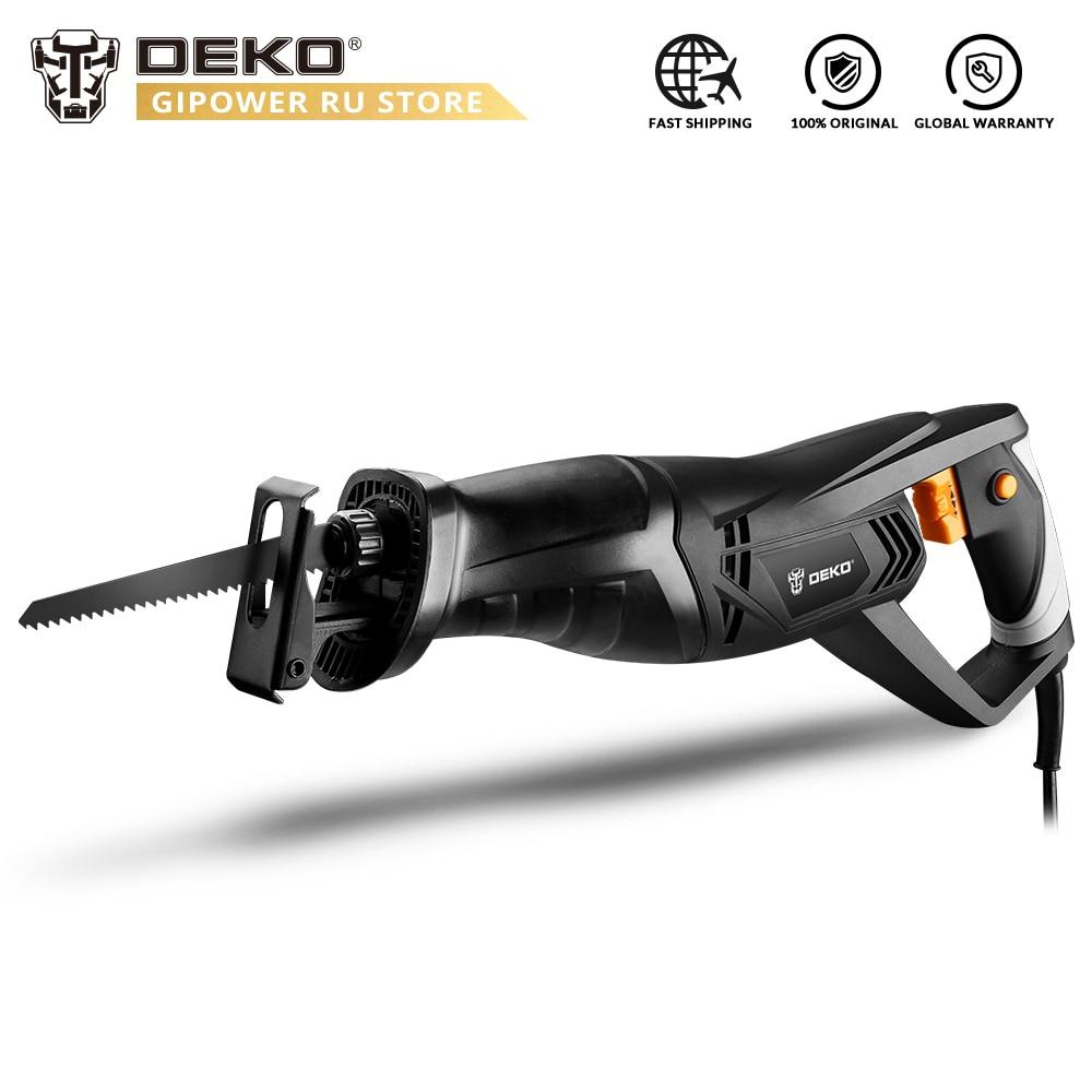 DEKO DKRS01 Portable Reciprocating Saw Electric Saw with Wood Metal Cutting Blade Tool Powerful Wood Cutting Saw