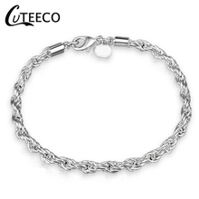 CUTEECO Love Brand Bracelet For Women Jewelry Gifts High Quality Simple Style Silver-Plated Charm Bracelet Bangle