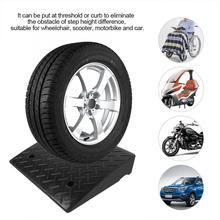 2 шт. сверхмощные резиновые пандусы для автомобиля, автомобиля, мотоцикла, инвалидной коляски, пороговый пандус 50*41*11 см