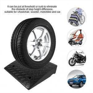 Ramps Rubber Threshold for Car Vehicle Motorbike Wheelchair 50--41--11cm Curb Heavy-Duty