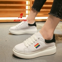 ALLENLYNN Women's Fashion Casual Sneakers 2019 New Thick Flatform Lace Up Autumn Shoes Woman Casual Dress Sneakers