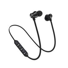 цена на Magnetic XT11 Comfortable Wear Sport Running Wireless Bluetooth Earphones HIFI Stereo Bass In-Ear Earphones for Smartphones