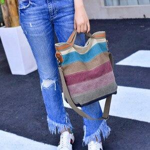 Image 5 - 2020 New Designer Brand Crossbody Bags for Women Large Messenger Bag Canvas Fashion Handbags Women Bags Bolsas Top Quality