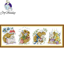 Joy Sunday,hedgehog,cross stitch embroidery set,cross stitch pattern,cross stitch needlework,Animal pattern cross stitch kit цены