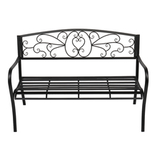 51 #8243 Patio Park Garden Outdoor Bench Patio Porch Chair Deck Iron Frame Black for Indoor Outdoor Patio Garden cheap CN(Origin) solid (130 5 x 61 x 90)cm (L x W x H) 93389918 Garden Chair Minimalist Modern Outdoor Furniture china 530lbs