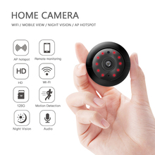 Wireless Mini WiFi Camera V380 CCTV Infrared Night Vision Home Security Detection 2-Way Audio CMOS Sensor 720P HD