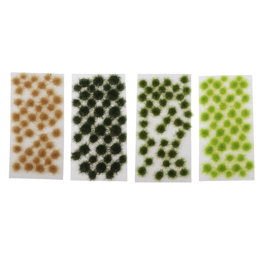 40 Pieces Static Grass Tuft 5mm Self Adhesive Static Grass Railway Artificial Grass Modeling Wargaming Terrain Model