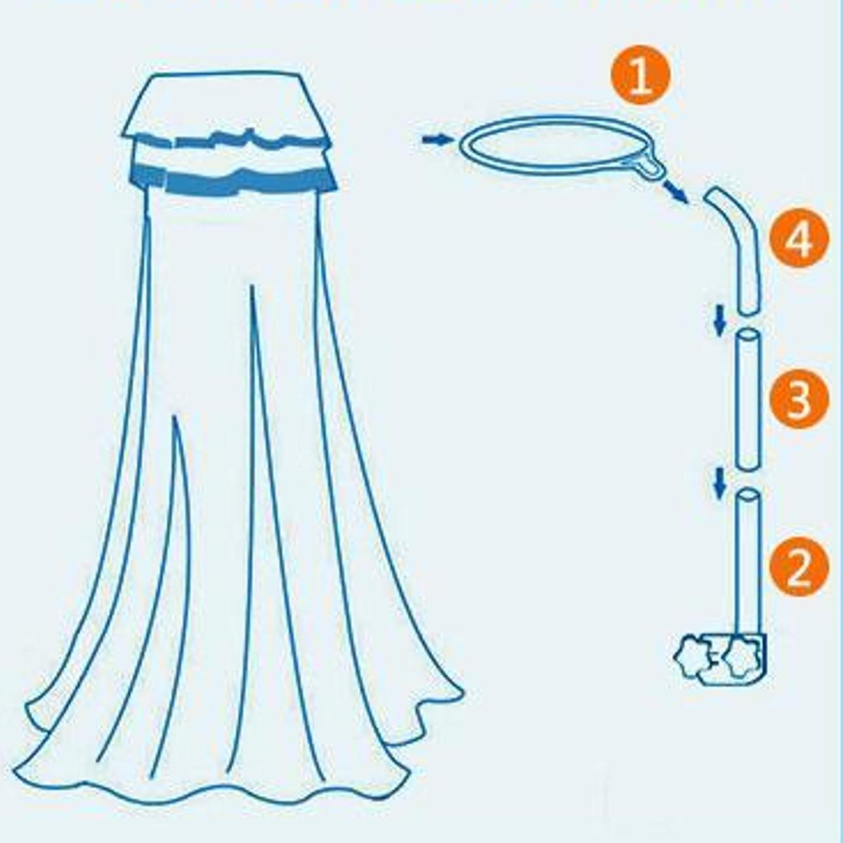 bebê berço mosquiteiro suporte de rede universal dossel suporte cama suporte
