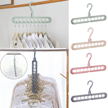 9-Hole Support Circle Clothes Hanger Clothes Drying Racks Multifunction Folding Plastic Scarf Clothes Hangers Storage Rack simple drying racks floor folding mobile towel sock rack hanger balcony plastic hangers indoor clothes racks furniture