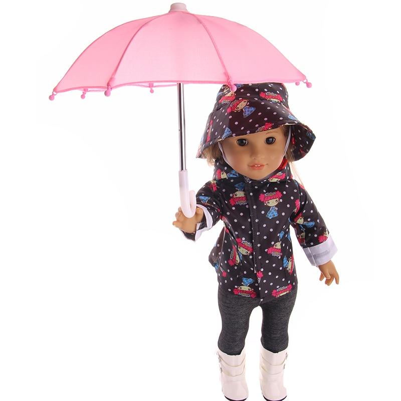 New Style Mini Umbrella Rain Gear For 18 Inch American baby Doll Life Journey Dolls Accessory Birthday For Children(China)