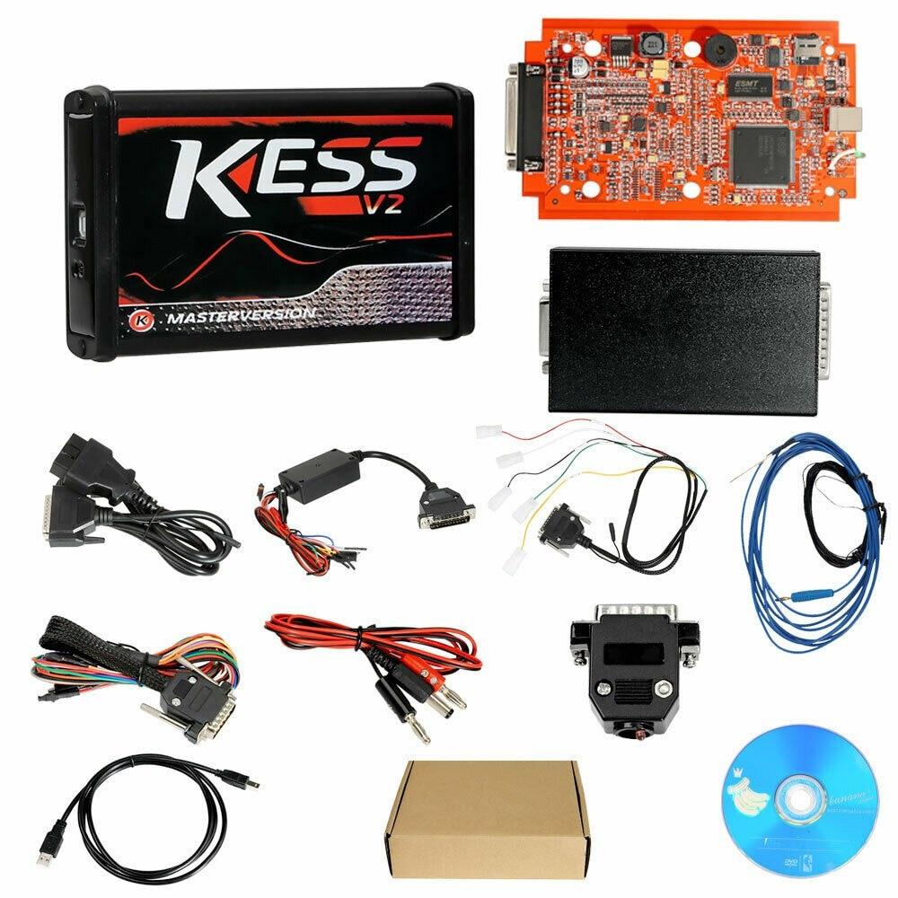 Chiptuning Kess v2 Red Master v5.017 programator ECU wsparcie obd2 samochody ciężarowe ciągniki rowery