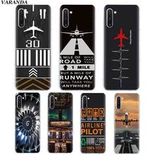 Airplane fly travel Pilot Plane Soft Case for Samsung Galaxy Note 10 5G 8 9 M40 M30 S10 Plus S10e A50 A40 TPU Silicone Cover Coq