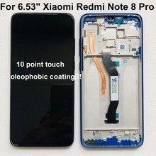 """Ban Đầu Mới Cho 6.53 """"Xiaomi Redmi Note 8 Pro Màn Hình LCD Hiển Thị Màn Hình + Bộ Số Hóa Màn Hình Cảm Ứng Với Khung redmi Note 8 Pro Màn Hình LCD"""