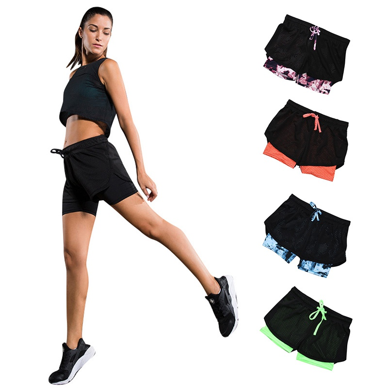 Drawstring Shorts Women Casual Loose Cotton Contrast Binding Side Split Elastic Waist Short Feminino W3759