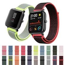 Nylon Leinwand Armband Für Xiaomi Amazfit GTS BIP GTR Handgelenk Gurt Für Huami Amazfit Tempo Stratos 1/2/ 2 S/3 20mm/22mm Uhr Band
