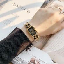 PABLO RAEZ Hot Seasons zegarek damski czysta czerń kwadratowa tarcza bransoletki z zegarkiem zestaw damski zegarek kwarcowy kobieta zegar wysokiej jakości