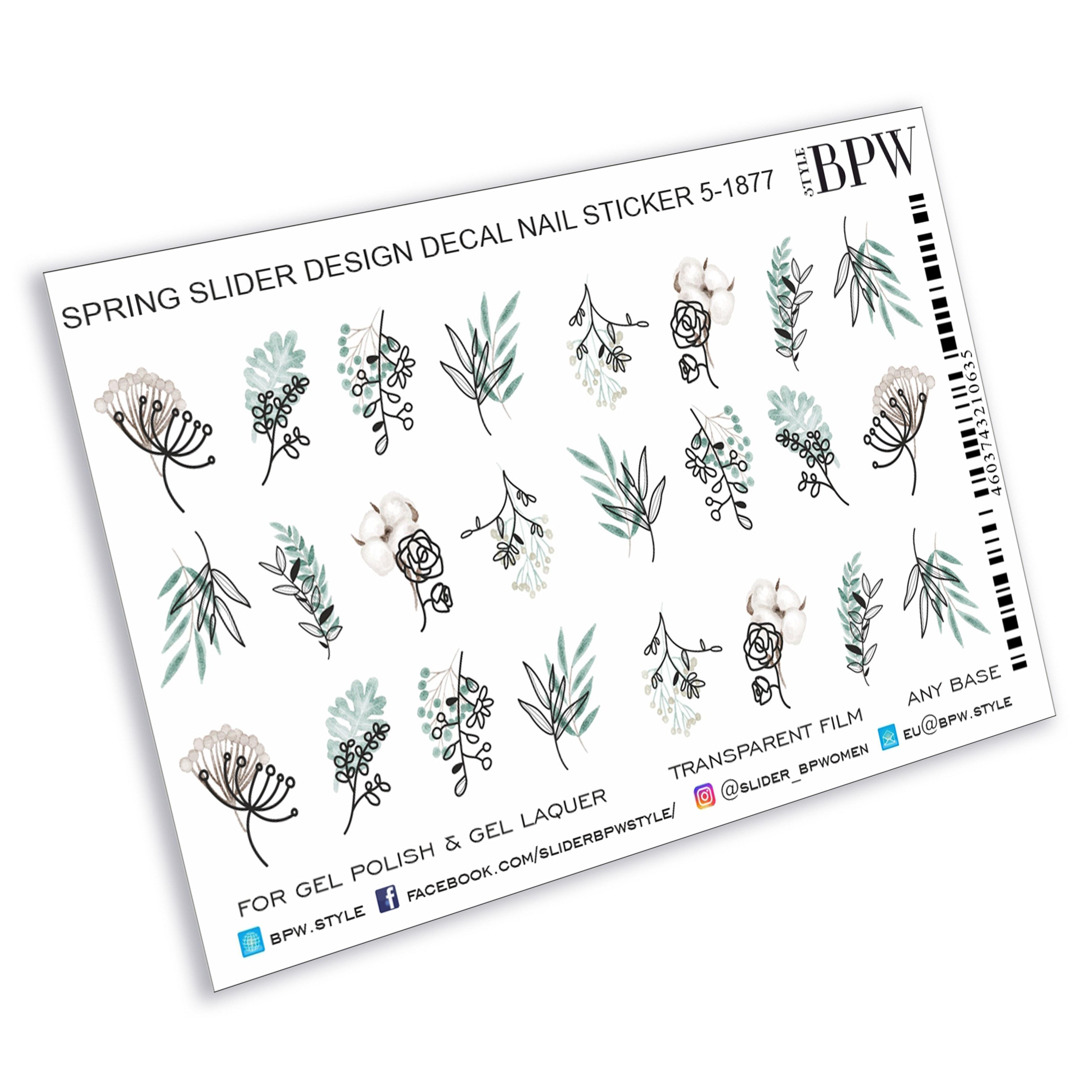 BPW. Style, Slider Design Spring Twigs, Sd5-1877