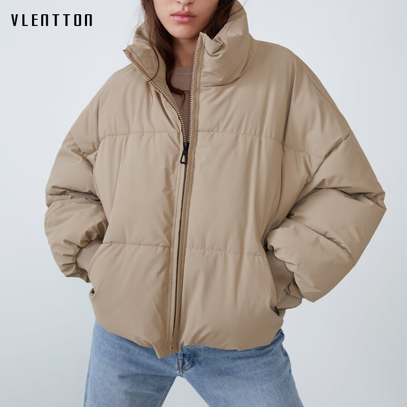 2020 Winter Thick Warm Snow Parka Coat Women Solid Jacket Outwear Female Casual Loose Black Short Parkas Mujer Casaco Feminino