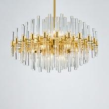 Modern Luxury Copper Crystal Chandelier Creative Bedroom Living Room Glass Villa Lamps Nordic Restaurant Hotel Hanging Lights