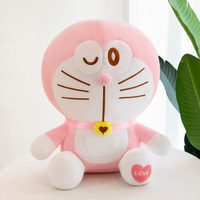 90cm Doraemon Pink Cute Plush Toy Cutecat Doll Soft Stuffed Animals Pillow Baby Toy For Kids Christmas Gifts Doraemon Figure