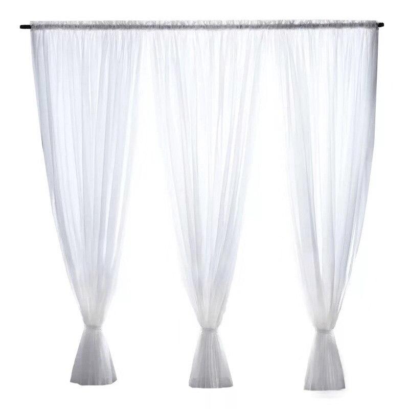 Прозрачные белые тюлевые занавески для украшения гостиной, современные шифоновые однотонные прозрачные Занавески Из вуали для кухни 5zmm267