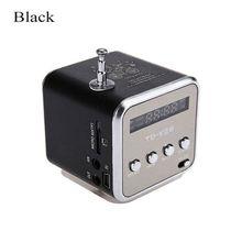 TD V26 mini alto falante portátil micro sd tf cartão usb disco estéreo para dvd portátil