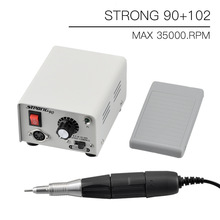 65W Strong 90 control box 35000RPM Strong 210 102L Micromotor Handle Electric Nail Drill