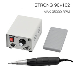 65W Strong 90 control box 35000RPM Strong 210 102L Micromotor Handle Electric Nail Drill manicure machine Nail File cutter Set