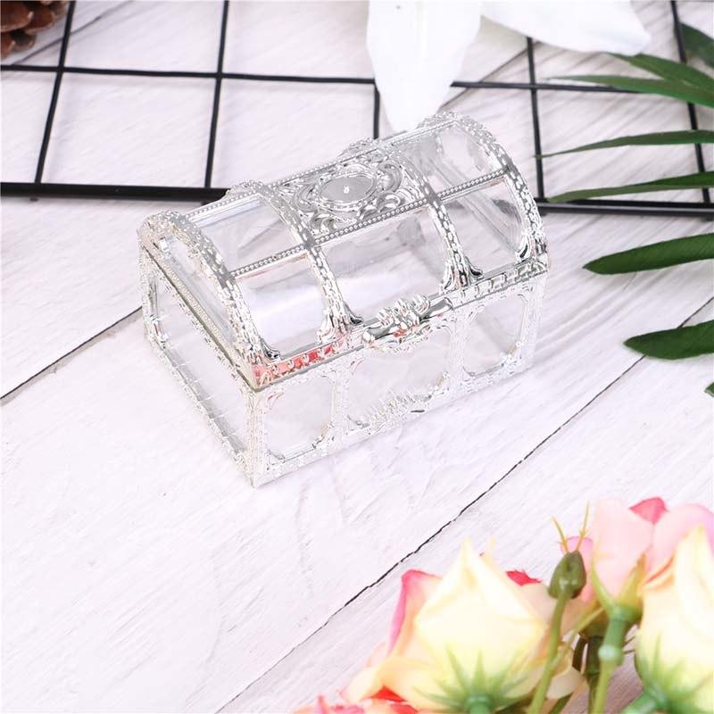 1 шт., пустотелая Золотая фольга, коробка для торта и конфет, для свадьбы, свадьбы, для детского душа, Подарочная коробка, упаковка, вечерние принадлежности для мероприятий - Цвет: Серебристый