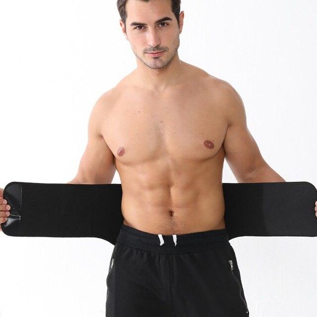 Waist Trainer Men-Waist Cincher TrimWaist Trainer Cincher Trimmer Back Support Sweat Slimming Body Belt Tool New 2020
