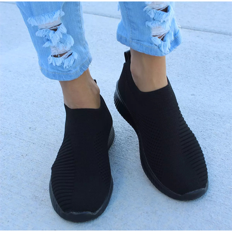 Hot Selling 2019 New Women Running Shoes Sneakers Knit Sock Sport Shoes Athletic Breathable Slip On Basket Femme Zapatillas