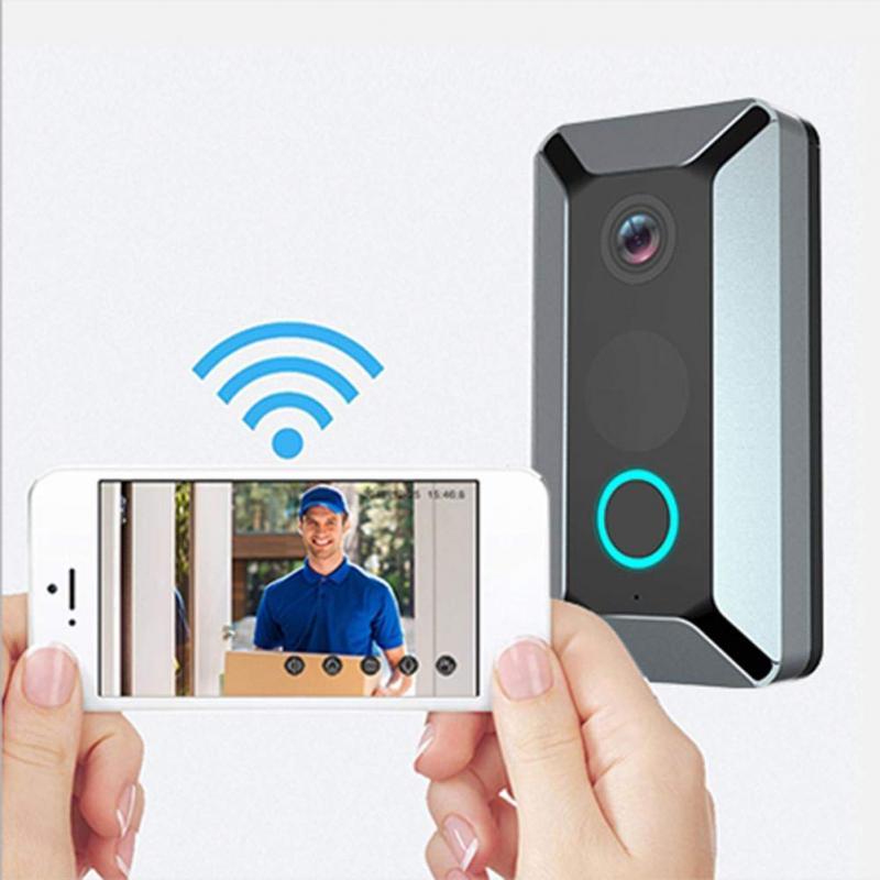 V6 Smart Wireless WiFi Doorbell Ring Video 720P Video Camera Waterproof Home Security House Bell Video Door Phone Door Bell