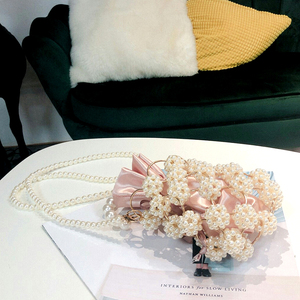 Image 3 - Hollow Out Pearl Handbgs Women New Luxury Small Beaded Pearl Clutch Purses And Handbags Ladies Woven Shoulder Bag Wedding Party